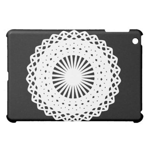 Doily. White lace circle image. Cover For The iPad Mini