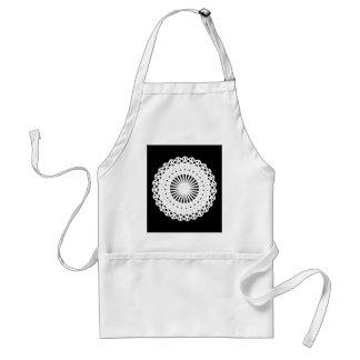 Doily. White lace circle image. Standard Apron