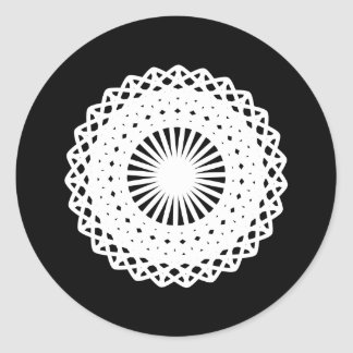 Doily White lace circle image Stickers