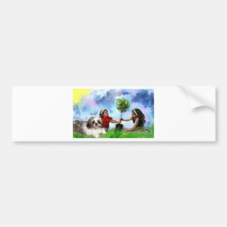 Doing small things_Painting_equalized.jpg Bumper Sticker