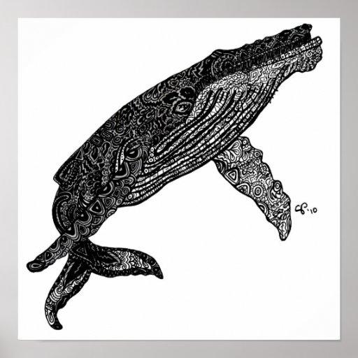 Doing Very Whale Custom Art Print
