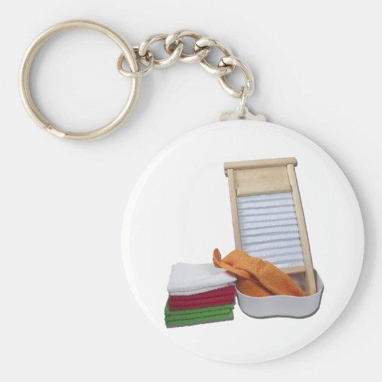 DoingLaundry112810 Basic Round Button Key Ring