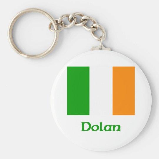 Dolan Irish Flag Basic Round Button Key Ring