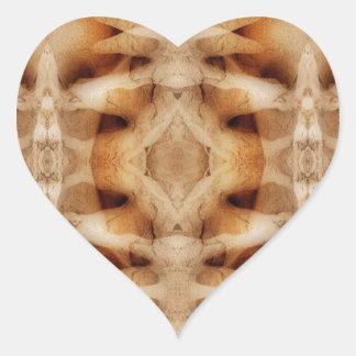 Dolerite symmetry heart sticker