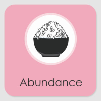 Doljabi Doljanchi Korean First birthday Abundance Square Sticker