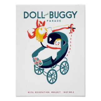 Doll and Buggy Parade Poster