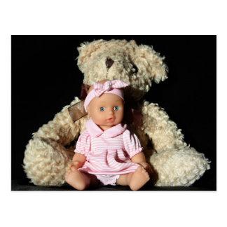 Doll and Teddy Bear Post Card