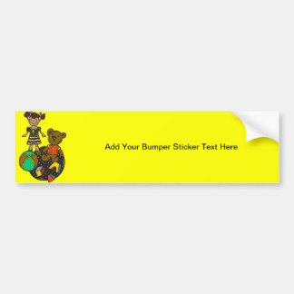 Doll Bear and Ball Toys Bumper Stickers