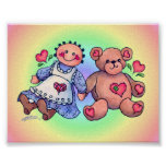 DOLL & BEAR by SHARON SHARPE Posters