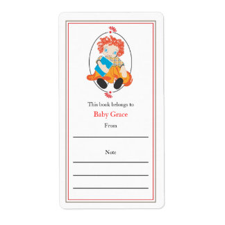 Doll Bookplate Shipping Label