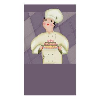 doll chef baker baking cake business card