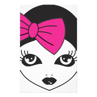 Doll Face Personalized Stationery