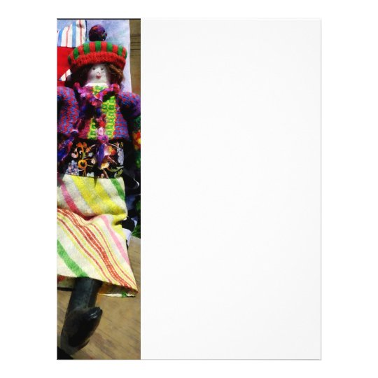 Doll in Colourful Outfil 21.5 Cm X 28 Cm Flyer