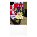 Doll in Colourful Outfil Photo Card Template