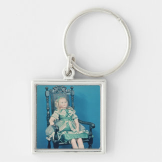 Doll, probably made by Charles Marsh, 1865 Silver-Colored Square Key Ring