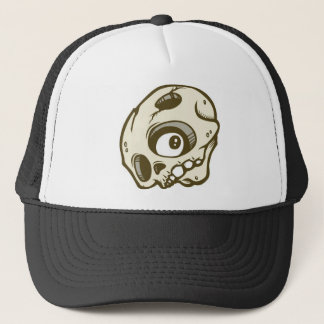 DOLLA brown skullie hat