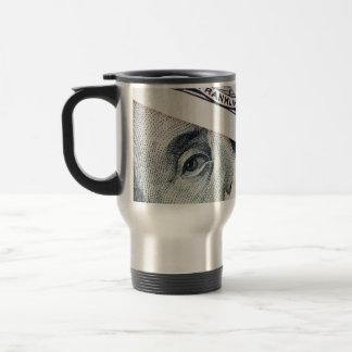 dollar bills mug