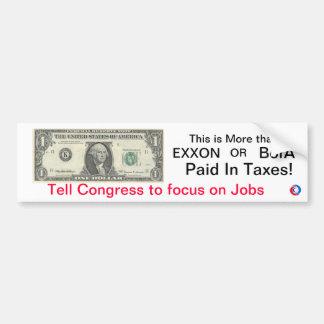 Dollar Campaign Bumper Sticker