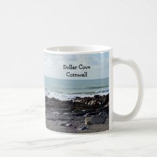 Dollar Cove Cornwall England Poldark Location Basic White Mug