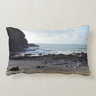 Dollar Cove Cornwall England Poldark Location Lumbar Cushion