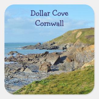 Dollar Cove Cornwall England Poldark Location Square Sticker