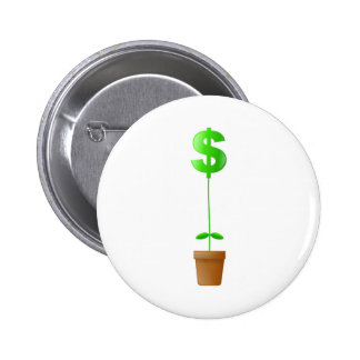 Dollar Plant 6 Cm Round Badge