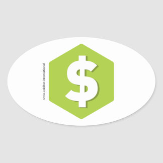 DOLLAR products Oval Sticker
