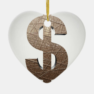Dollar sign christmas ornament