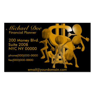 Dollar Sign Financial Planner Business Cards