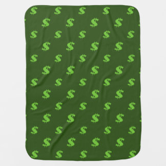 Dollar sign pattern baby blanket