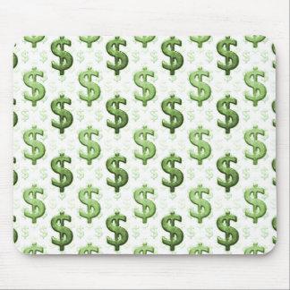 Dollar Sign Pattern Mouse Mat