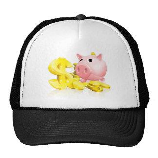 Dollar sign piggy bank trucker hats
