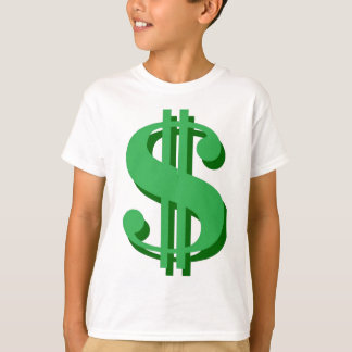 $ dollar-sign tee shirts