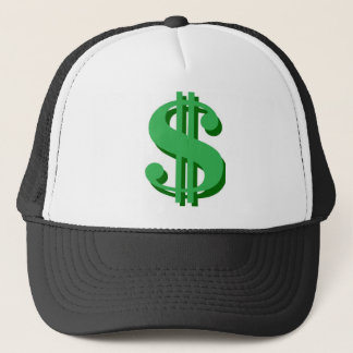 $ dollar-sign trucker hat