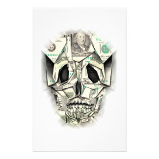 Dollar Skull design Stationery