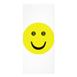 dollar smile icon personalized rack card