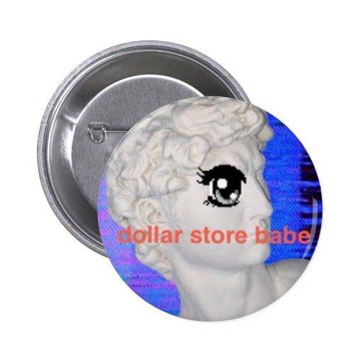 Dollar Store Babe Button