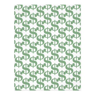 Dollar symbol pattern 21.5 cm x 28 cm flyer