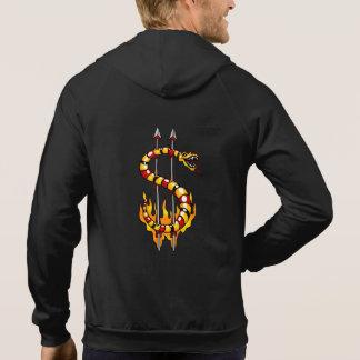 dollar symbol - snake shape hoodie