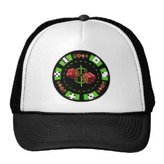 DOLLARS AND DICE POKER CHIP CAP