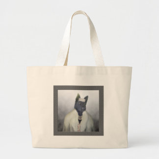 Dolled up doggy jumbo tote bag