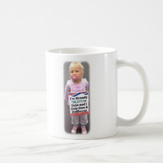 Dollhouse Debt Basic White Mug