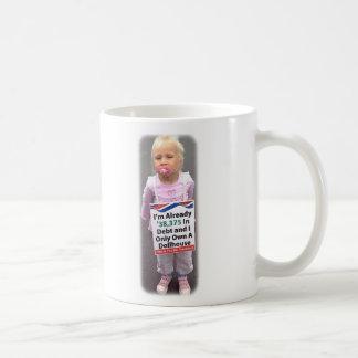 Dollhouse Debt Basic White Mug
