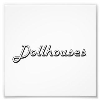 Dollhouses Classic Retro Design Photographic Print
