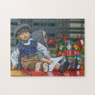 Dolls and watering can photo puzzle