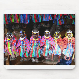 DOLLS IN A KENYAN MARKET MOUSE PAD