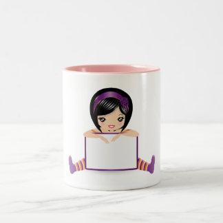 dolls sign full Two-Tone coffee mug