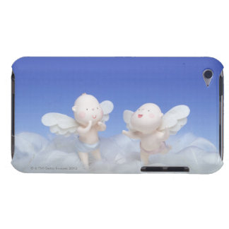 Dolls with angel's wings standing on feathers, barely there iPod cover