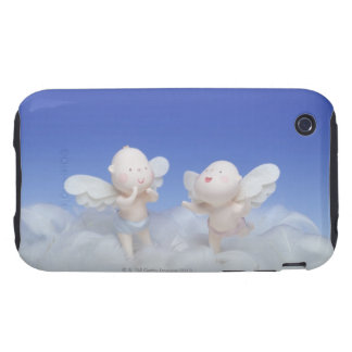 Dolls with angel's wings standing on feathers, iPhone 3 tough cases