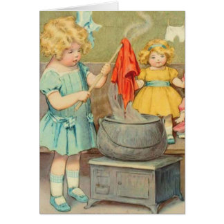 Dolly Laundry Greeting Card